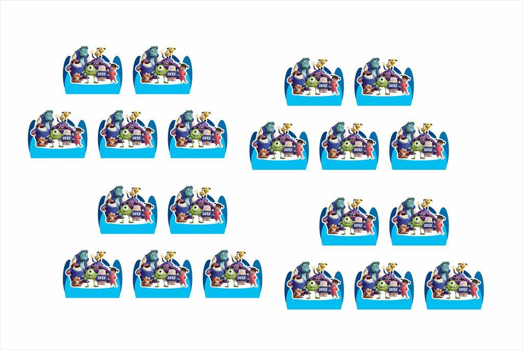 Kit Festa Infantil Monstros S.A. 265 Peças (30 pessoas)