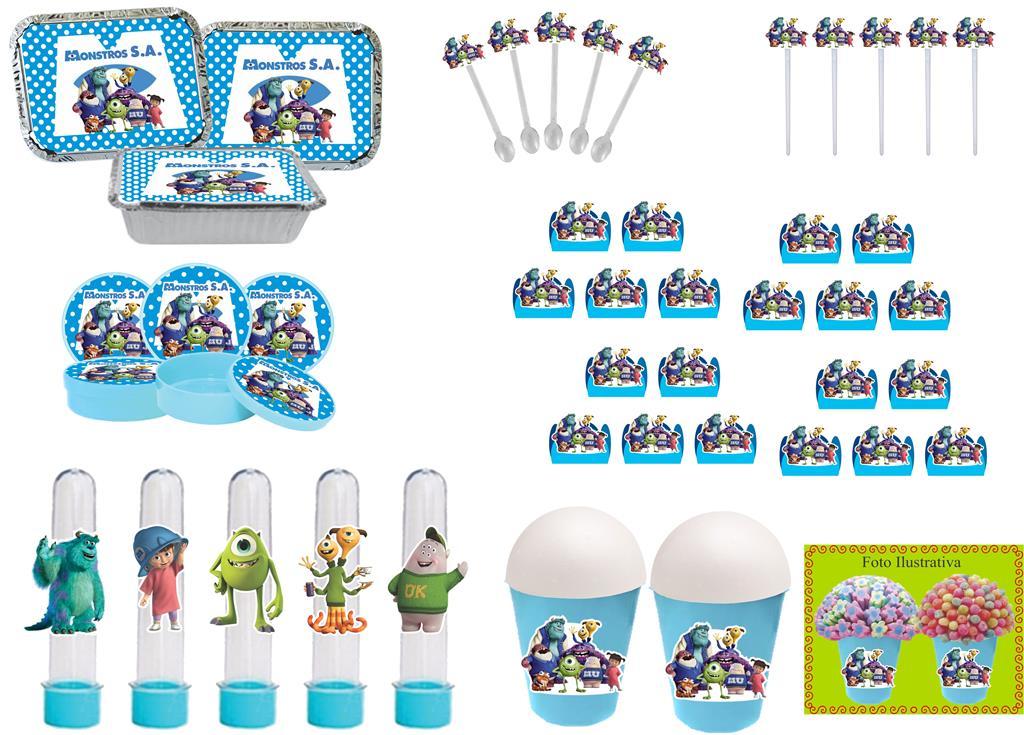 Kit Festa Infantil Monstros S.A. 292 Peças (30 pessoas)