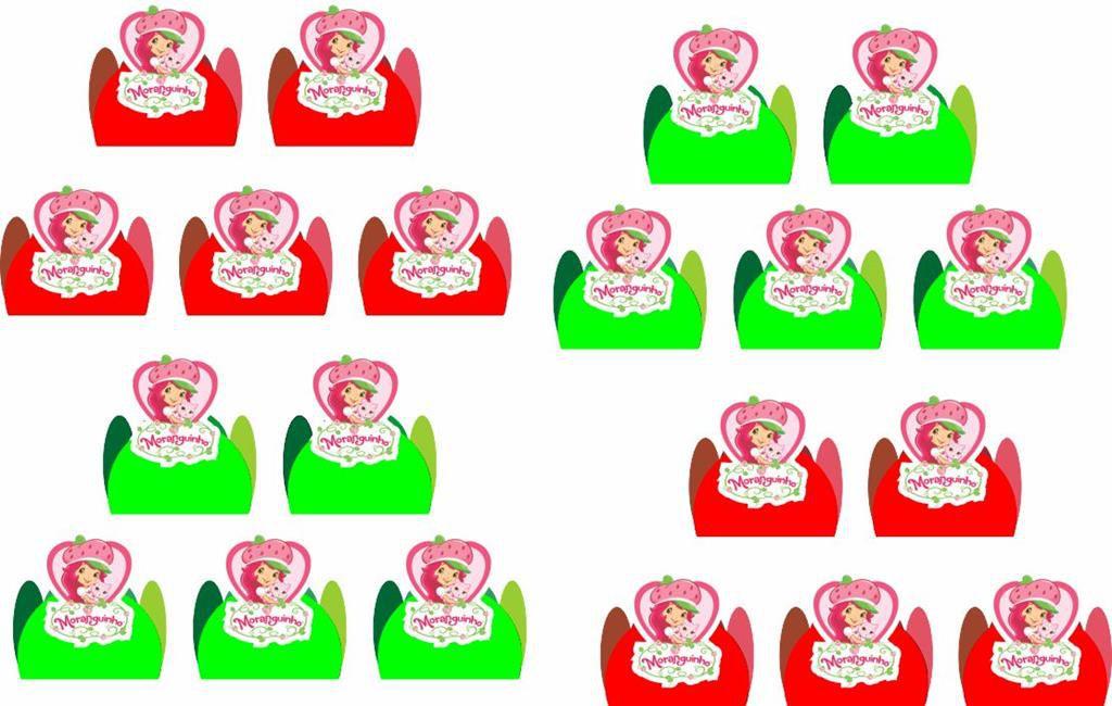 Kit Festa Infantil Moranguinho 143 Peças (20 pessoas)