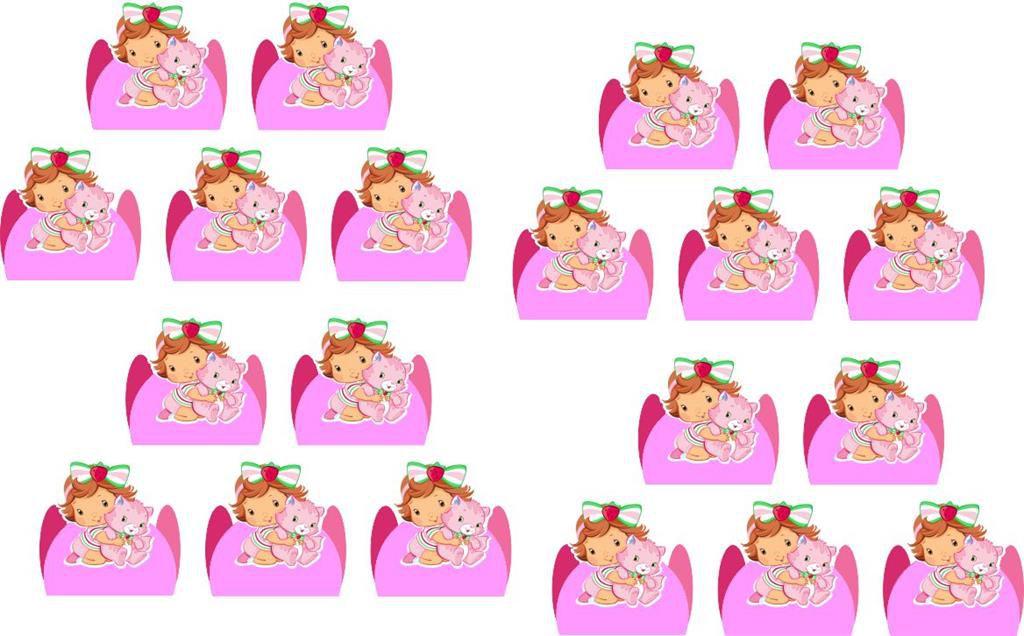 Kit Festa Moranguinho Baby 160 Pças (20 pessoas)