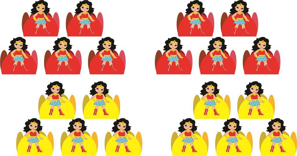 Kit Festa Infantil Mulher Maravilha Baby 352 Peças (50 pessoas)
