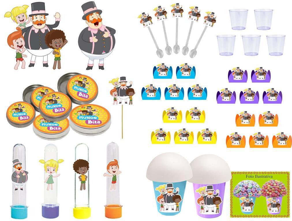 Kit festa Infantil Mundo Bita 155 peças (20 pessoas)