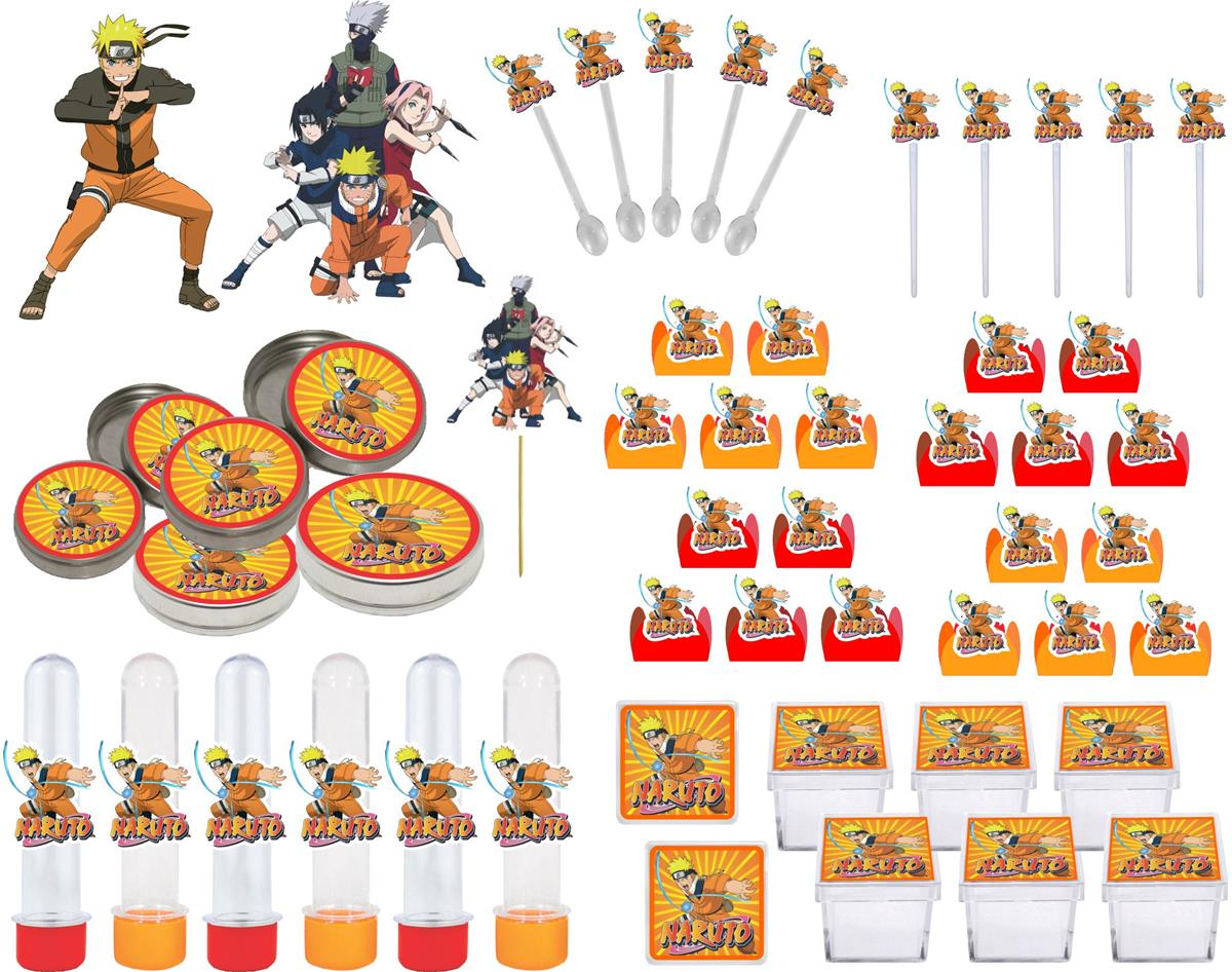 Kit Festa Infantil Naruto 161 Peças (20 pessoas)