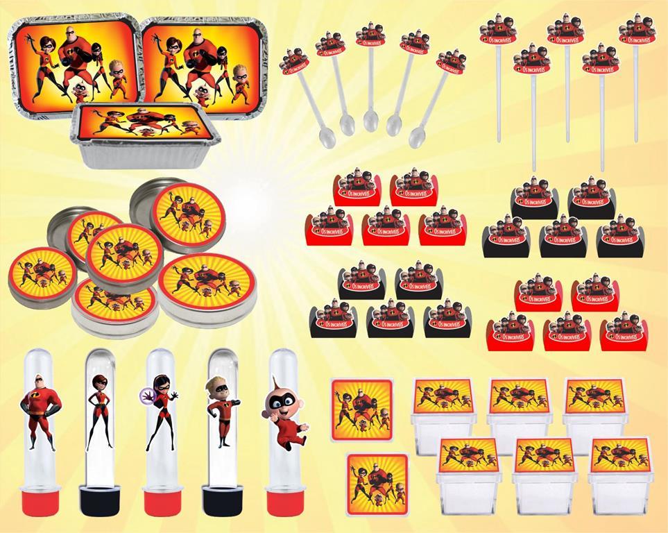 Kit festa infantil Os Incríveis 178 peças (20 pessoas)