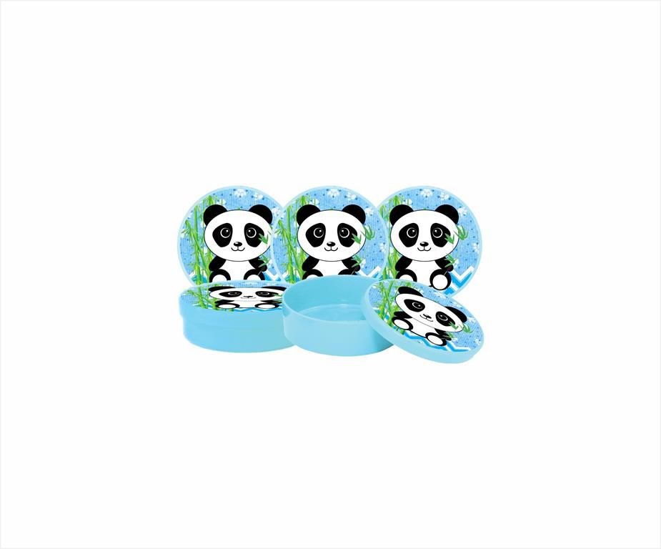 Kit Festa Infantil Panda (azul) 352 Peças (50 pessoas)