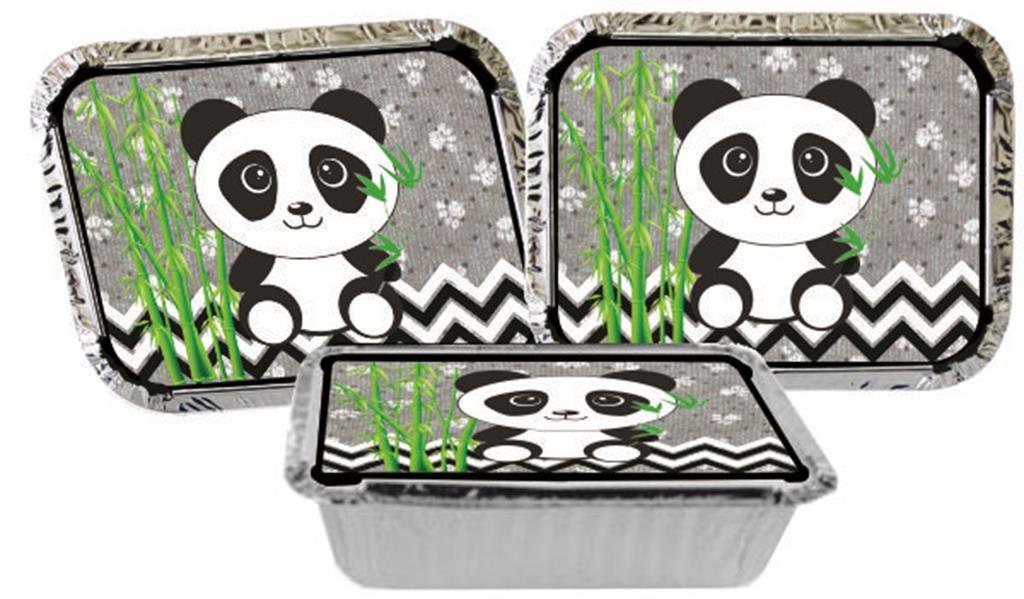Kit Festa Panda (preto E Branco) 292 Peças (30 pessoas)