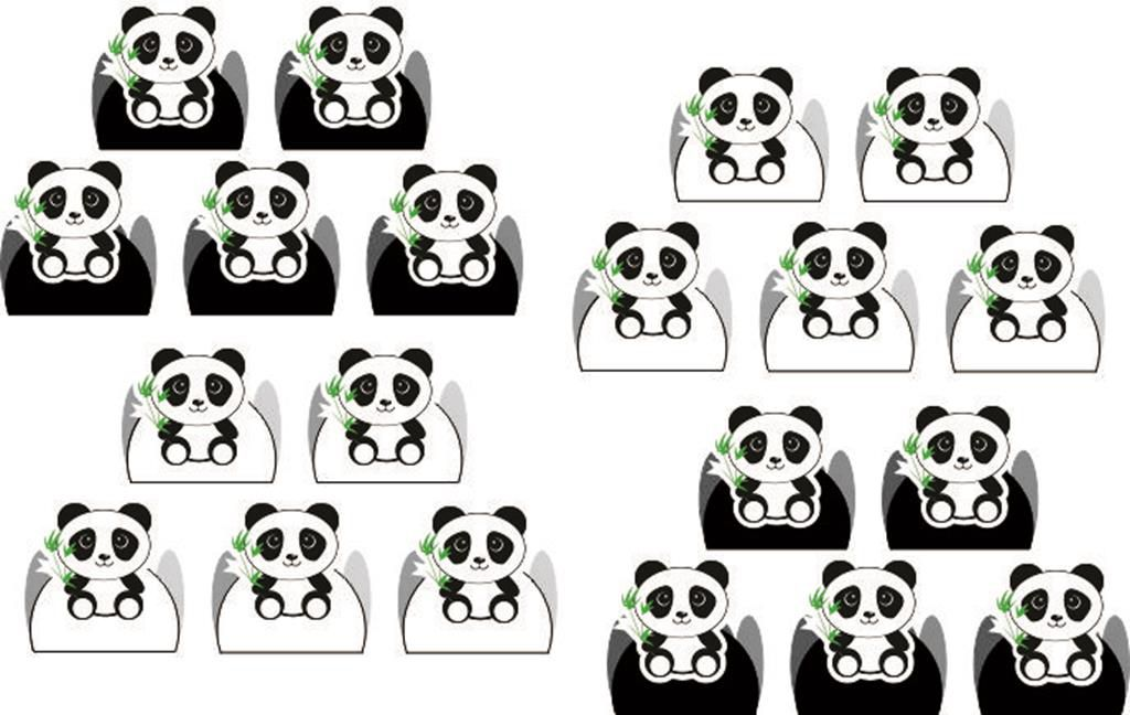 Kit festa Infantil Panda (preto e branco) 293 peças  (30 pessoas)