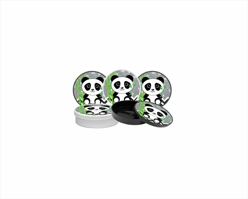 Kit Festa Infantil Panda (preto E Branco) 352 Peças (50 pessoas)
