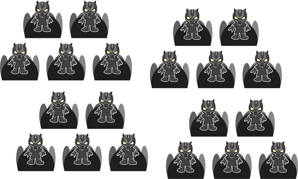 Kit festa Pantera Negra Baby (cute) 152 peças (20 pessoas)