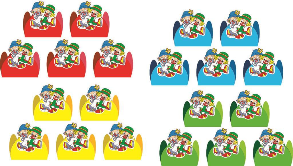 kit festa infantil Patati Patatá 114 pças (10 pessoas)