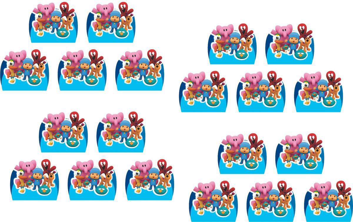 Kit Festa Infantil Pocoyo (azul claro)  160 Peças (20 pessoas)