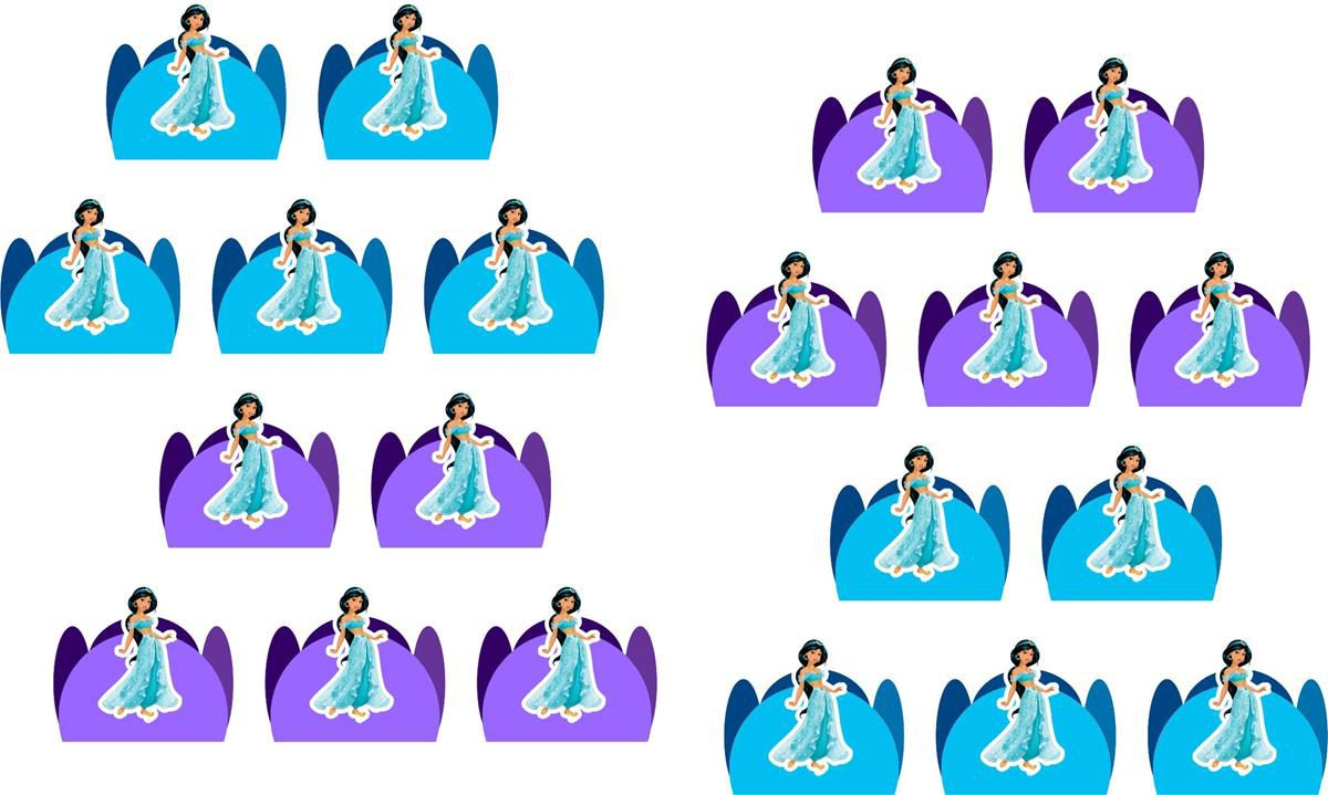 Kit festa Infantil Princesa Jasmine 155 peças (20 pessoas)