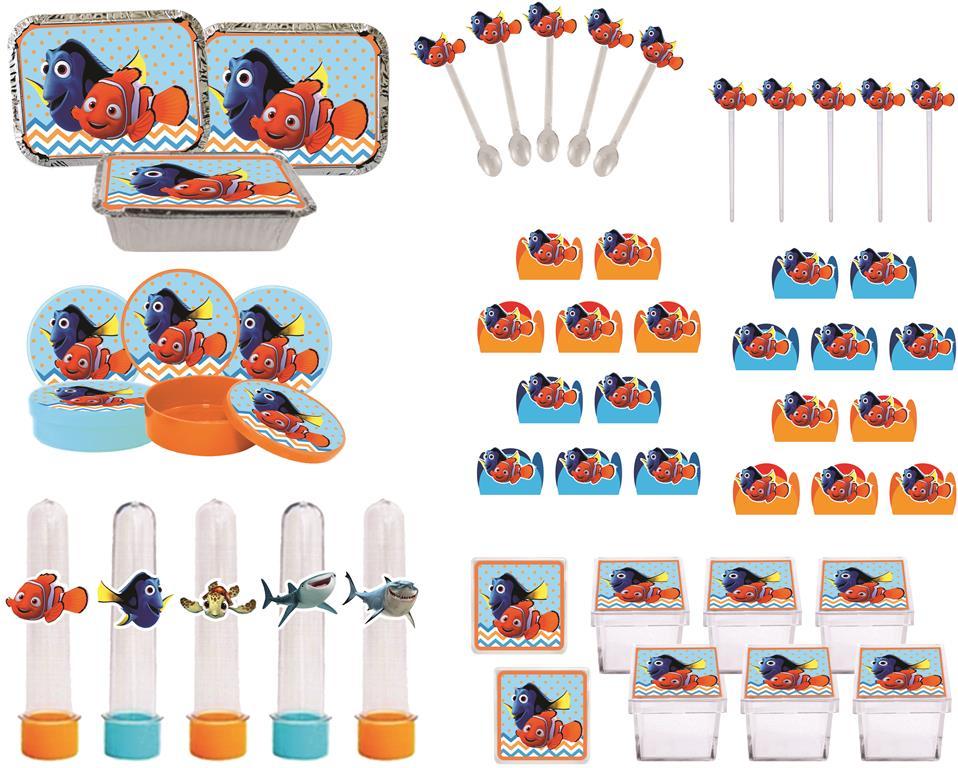 Kit Festa Infantil Procurando Nemo 178 Pças (20 pessoas)