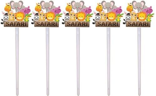 Kit Festa Infantil Safari Menina 99 Peças (10 pessoas)