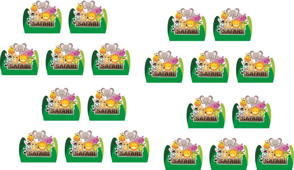 Kit  Safari menino (verde escuro) 143 peças (20 pessoas)