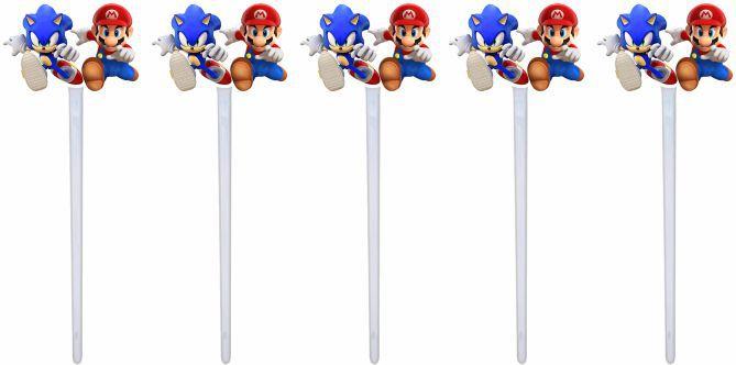 Kit festa Infantil Sonic X Mario 160 peças (20 pessoas)