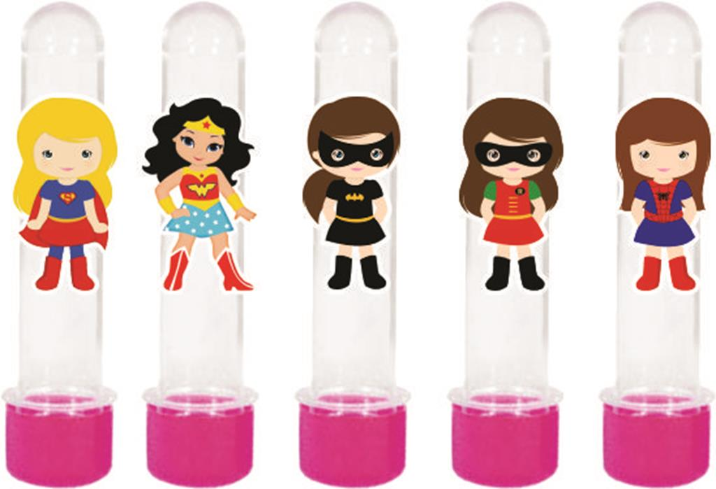 Kit Festa Super Heroínas 160 Peças (20 pessoas)