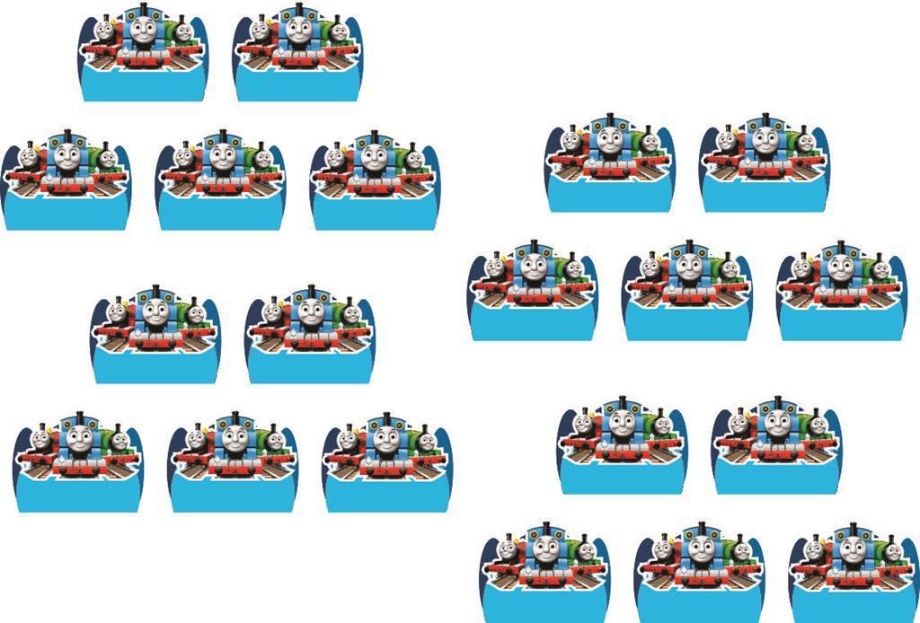 Kit festa Thomas e Seus Amigos 160 peças (20 pessoas)