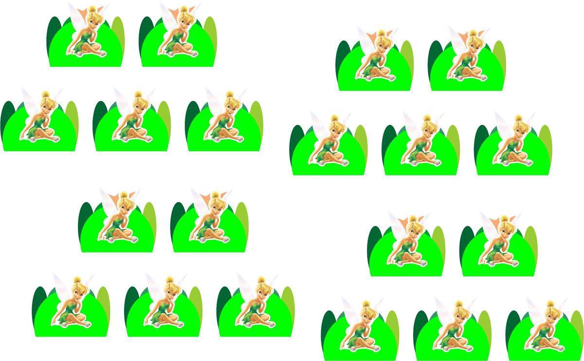 Kit festa Tinker Bell (Sininho) 265 peças (30 pessoas)