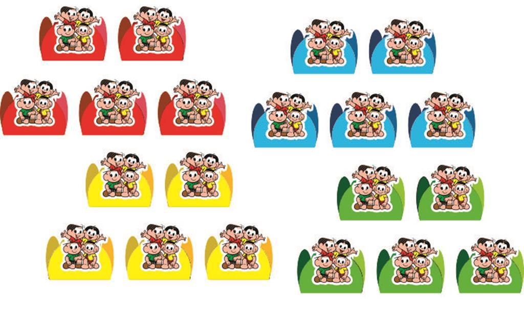 Kit festa Infantil Turma da Mônica 160 peças