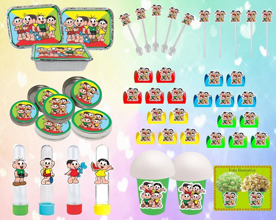 Kit festa Turma do Cebolinha 160 peças (20 pessoas)