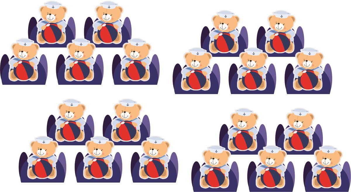 Kit Festa Urso Marinheiro 143 Peças (20 pessoas)