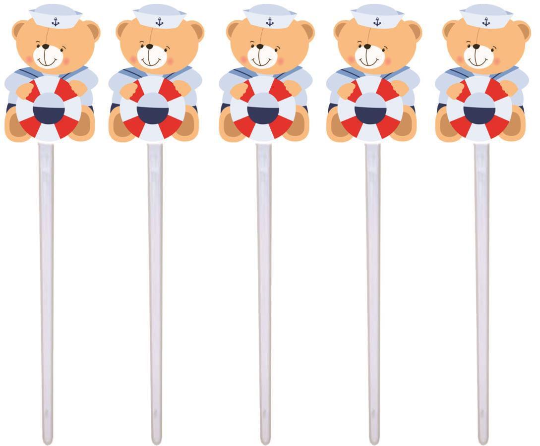 Kit Festa Urso Marinheiro 265 Pças (30 pessoas)