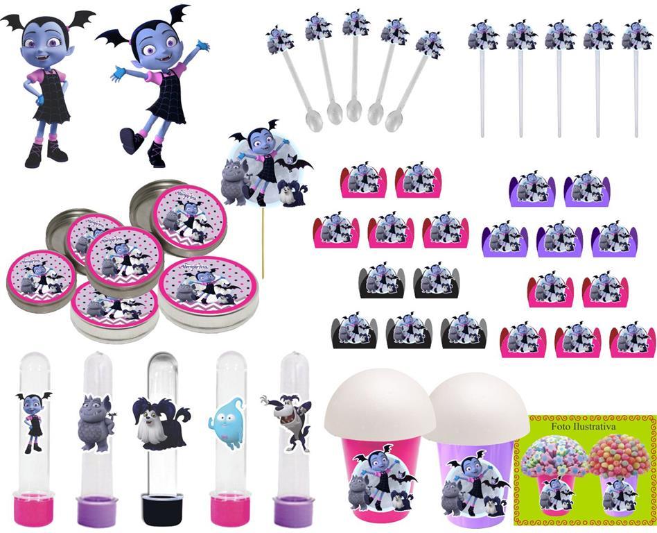 Kit festa Infantil Vampirina 143 peças (20 pessoas)