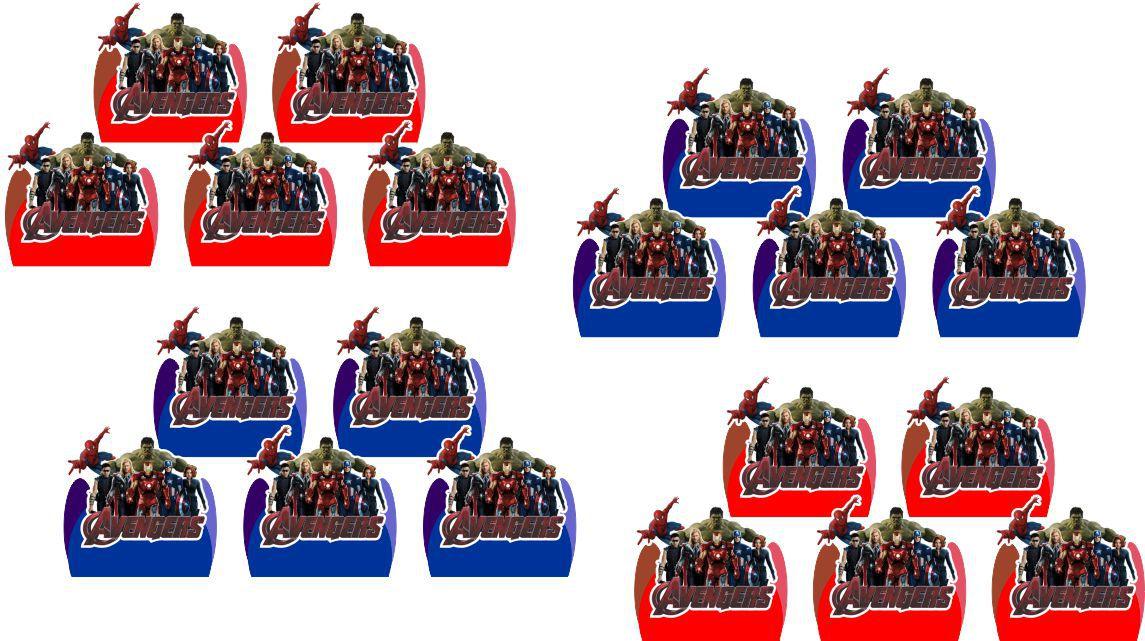 Kit Festa Infantil Vingadores 106 Peças (10 pessoas)