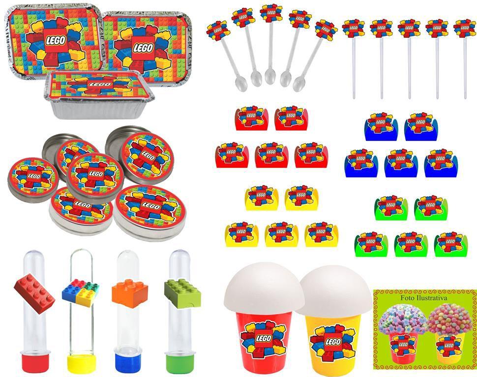 Kit festa Lego 106 peças (10 pessoas)