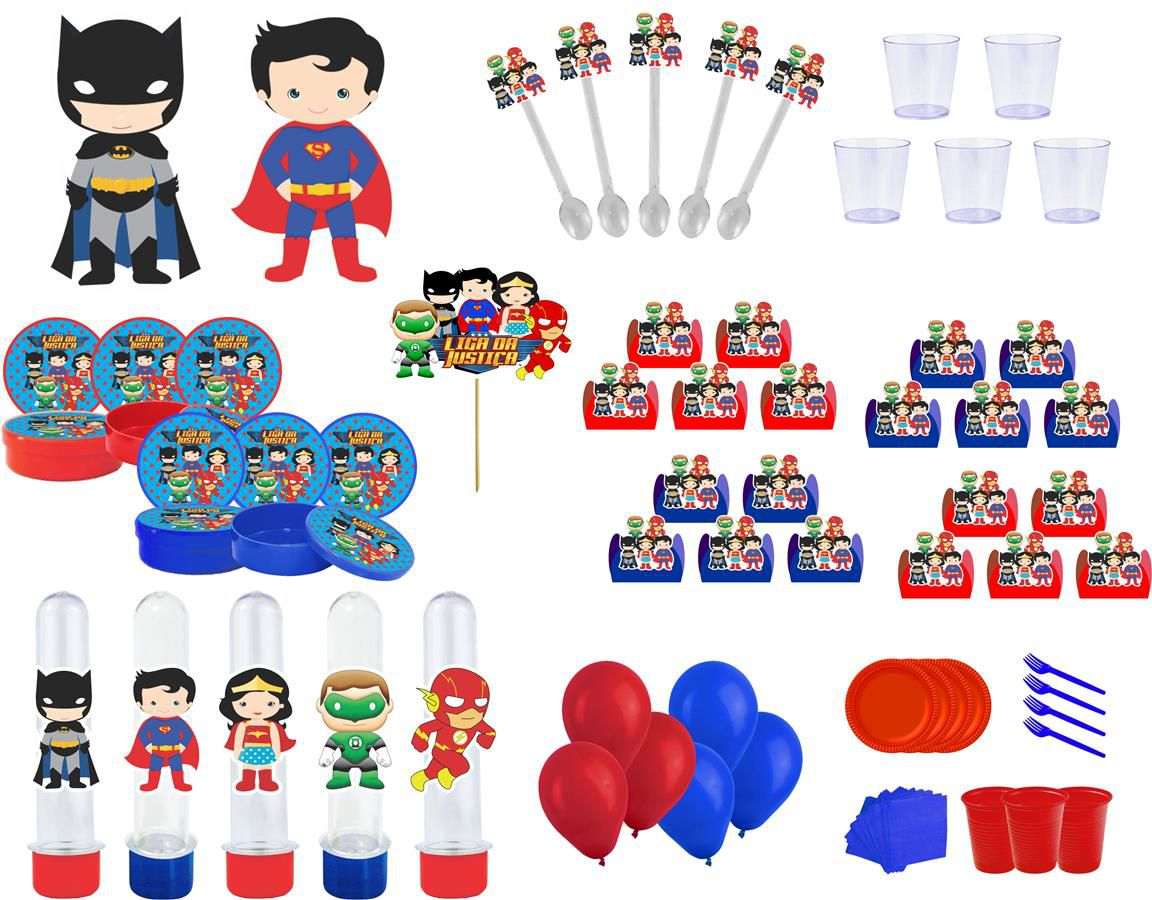 Kit festa Liga da Justiça Baby 433 peças