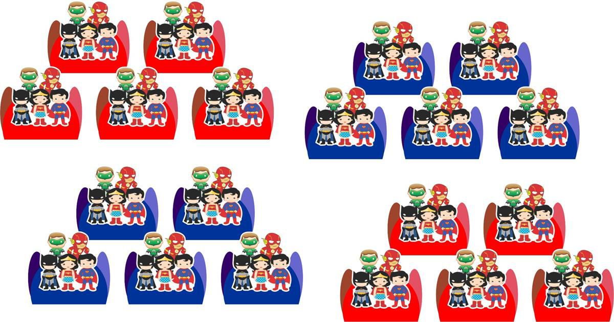 Kit festa Liga da Justiça Baby (cute) 152 peças
