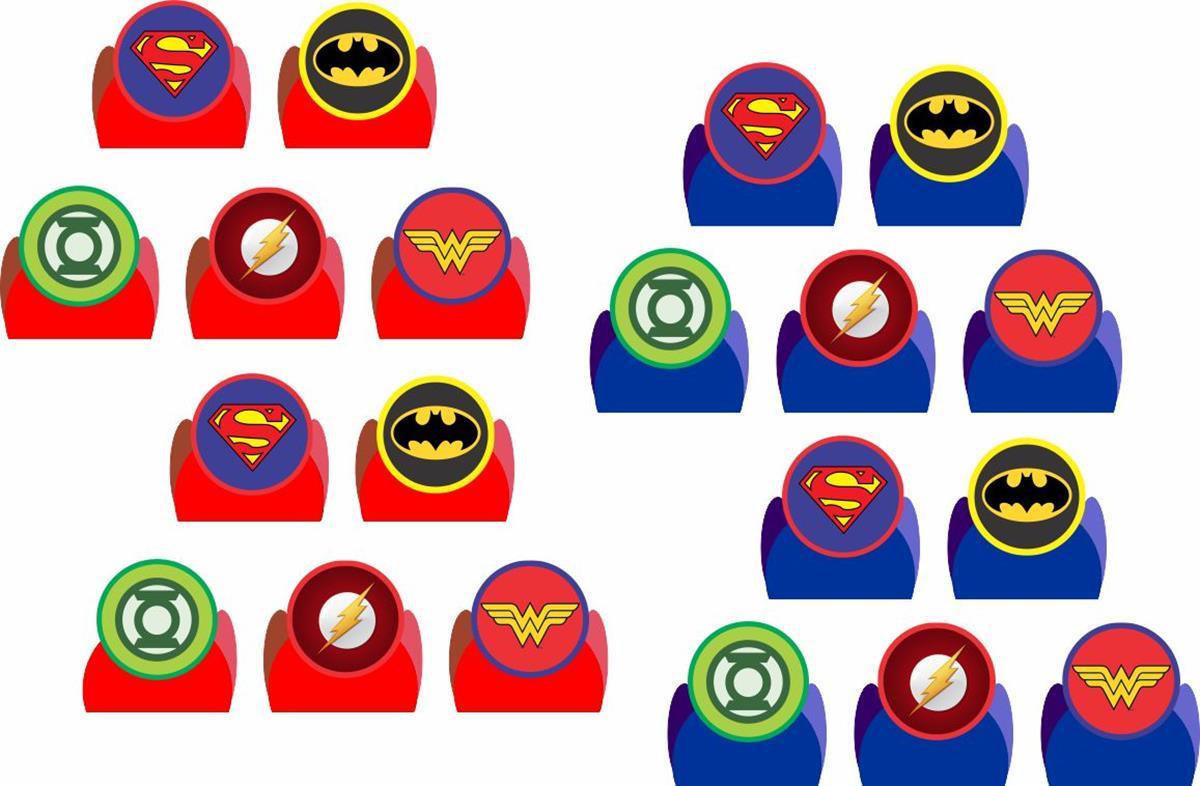Kit Festa Liga Da Justiça Símbolos 160 Pças (20 pessoas)
