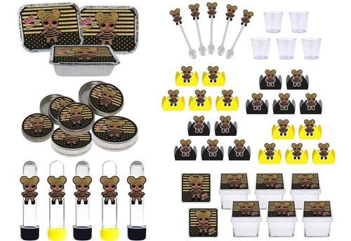 Kit Festa Lol Queen Bee 170 Peças (20 Pessoas)