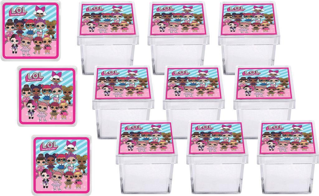 Kit festa Lol Surprise 178 peças (pink e azul claro) (20 pessoas)