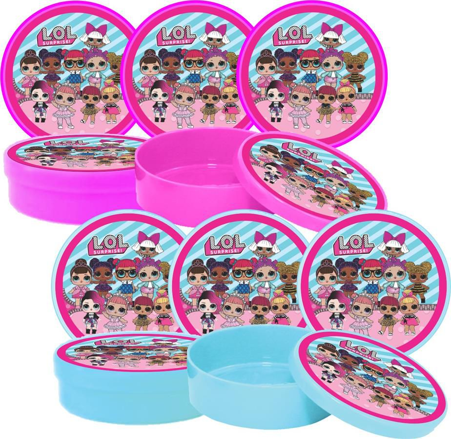 Kit  Lol Surprise (pink E Azul Claro) 114 Peças (10 pessoas)