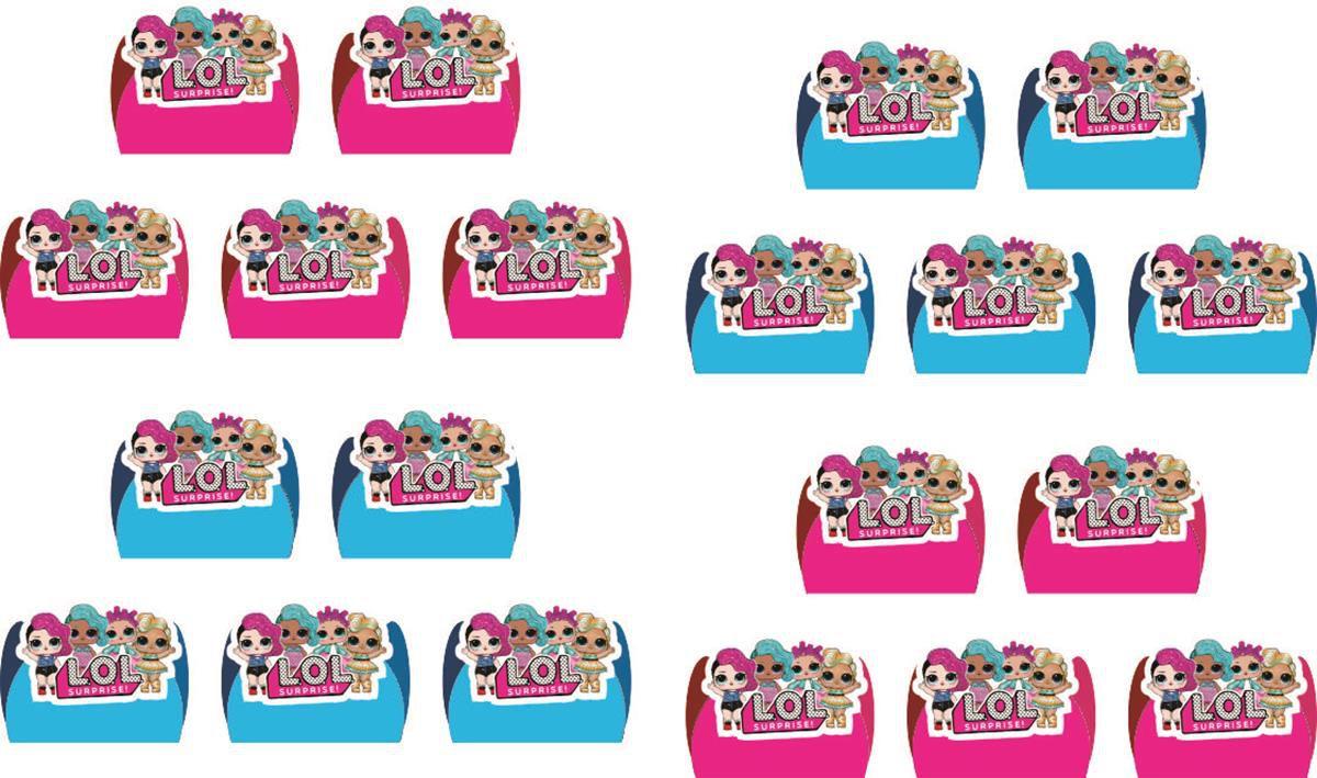 Kit festa Lol Surprise (pink e azul claro ) 161 peças (20 pessoas)