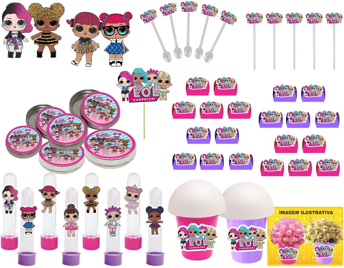 Kit Festa Lol Surprise (pink E Lilás) 265 Peças (30 pessoas)