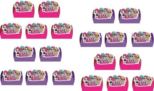 Kit festa Lol Surprise (pink e lilás)  99 peças (10 pessoas)