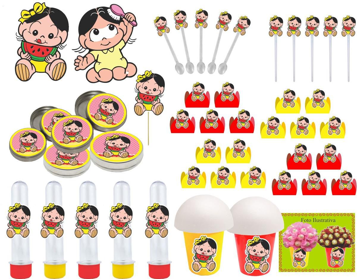 Kit festa Magali Baby 99 peças (10 peças)