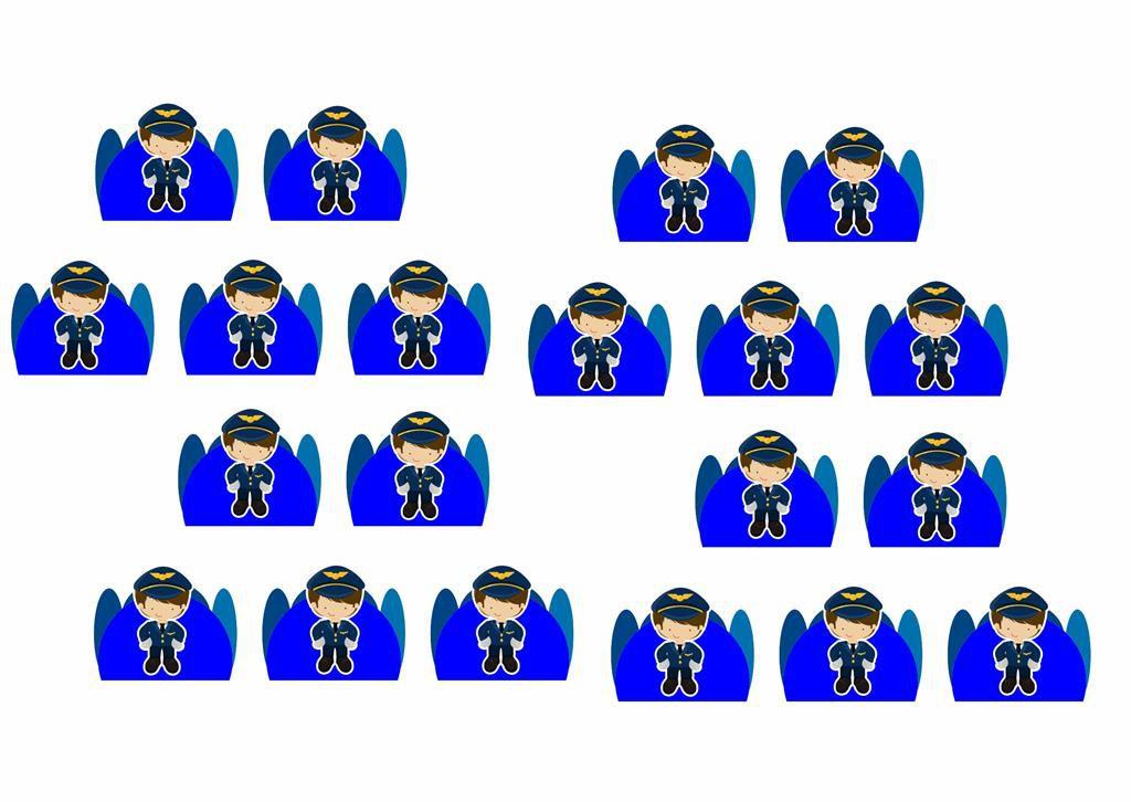 Kit Festa Menino Aviador 121 peças (10 pessoas)