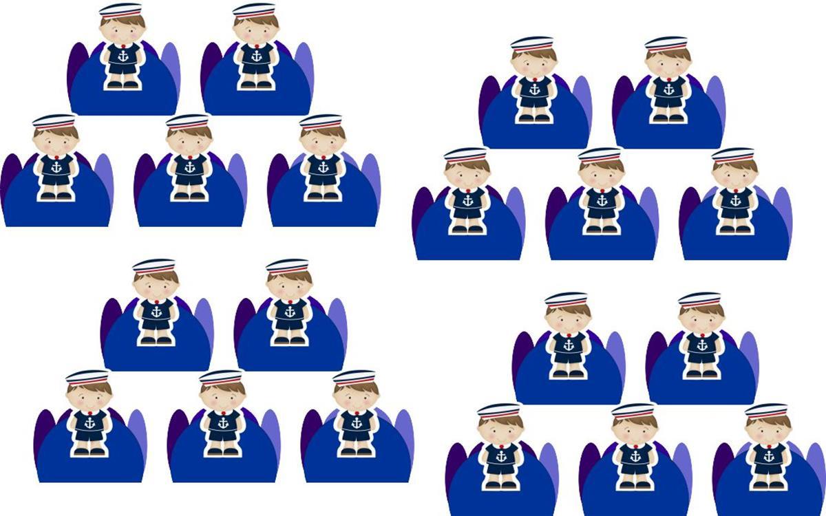 Kit Festa Menino Marinheiro  106 Peças (10 pessoas)