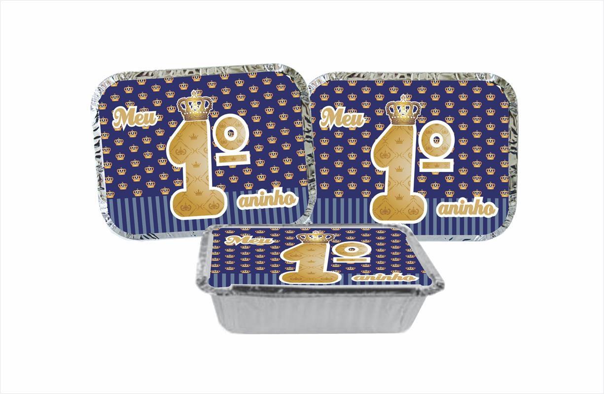 Kit festa Meu 1º aninho Realeza menino 307 peças (20 pessoas)