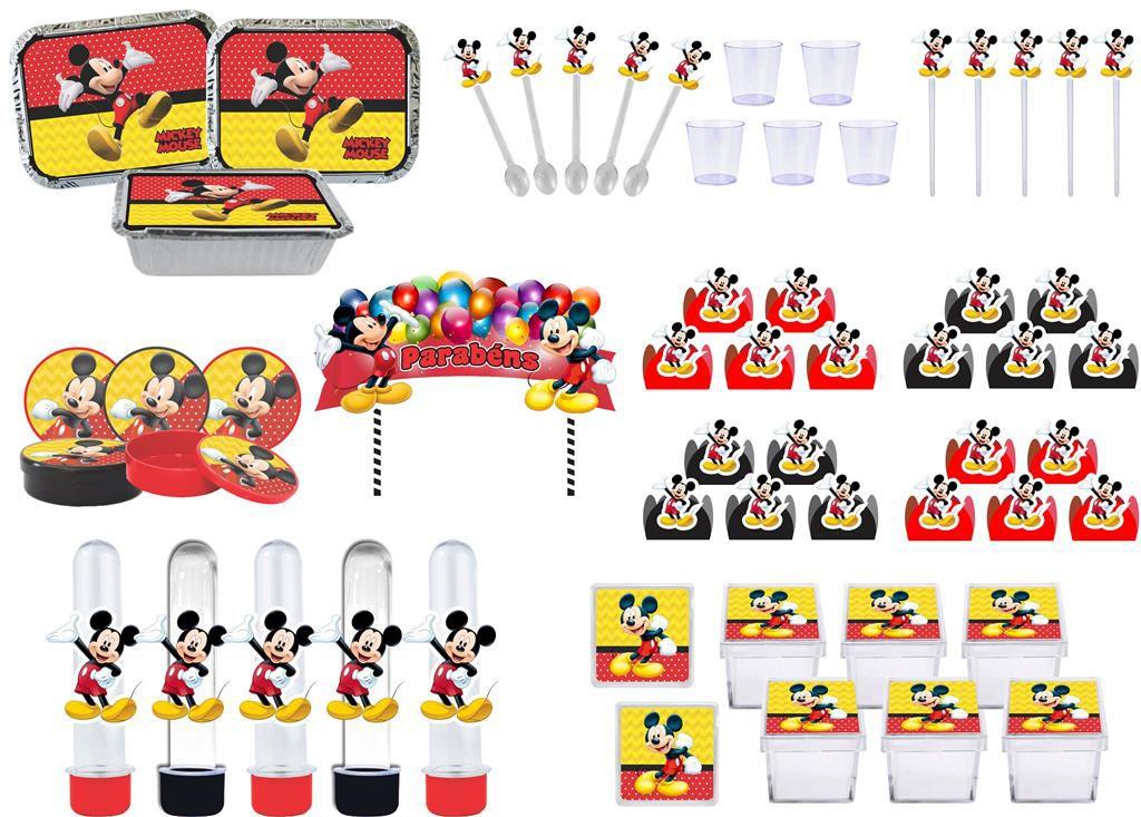 Kit festa Mickey 191 peças (20 pessoas)