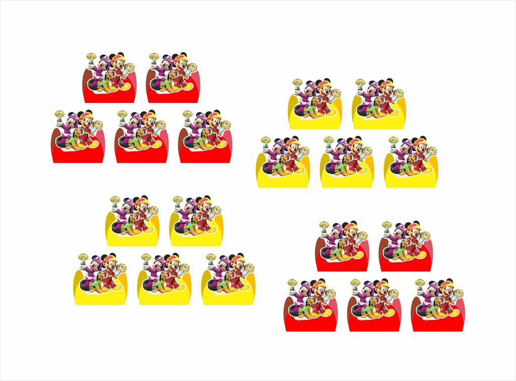 Kit festa Mickey Aventura Sobre Rodas  61 peças