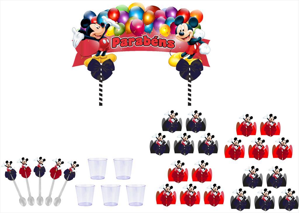 Kit festa decorado Mickey  61 peças