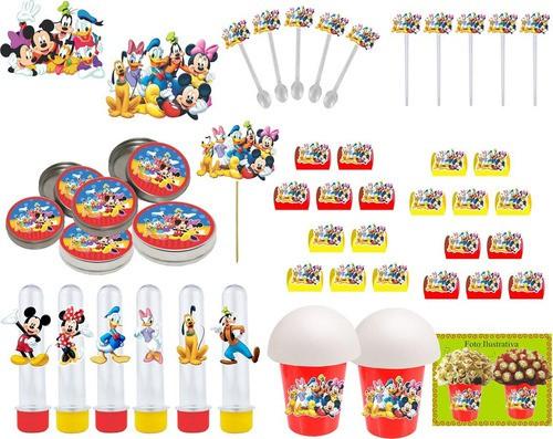 Kit festa Mickey e Sua Turma 99 peças (10 pessoas)