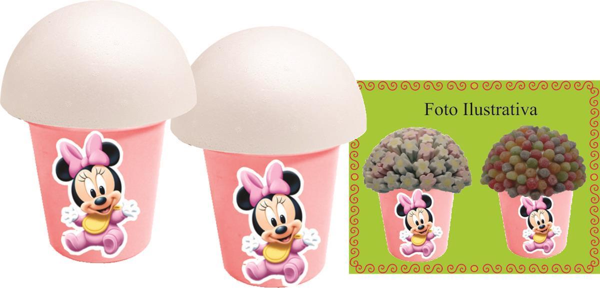 kit festa Minnie Baby rosa 160 peças (20 pessoas)