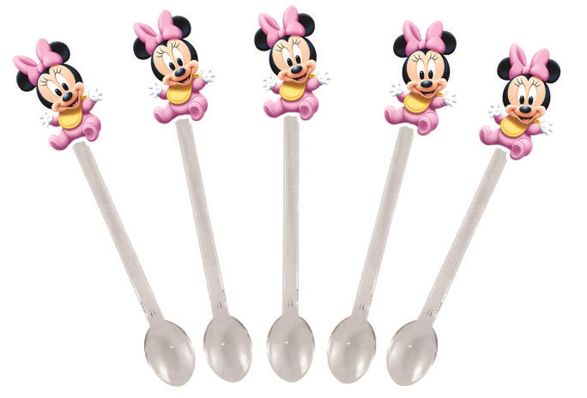 Kit festa Minnie Baby rosa 265 peças (30 pessoas)