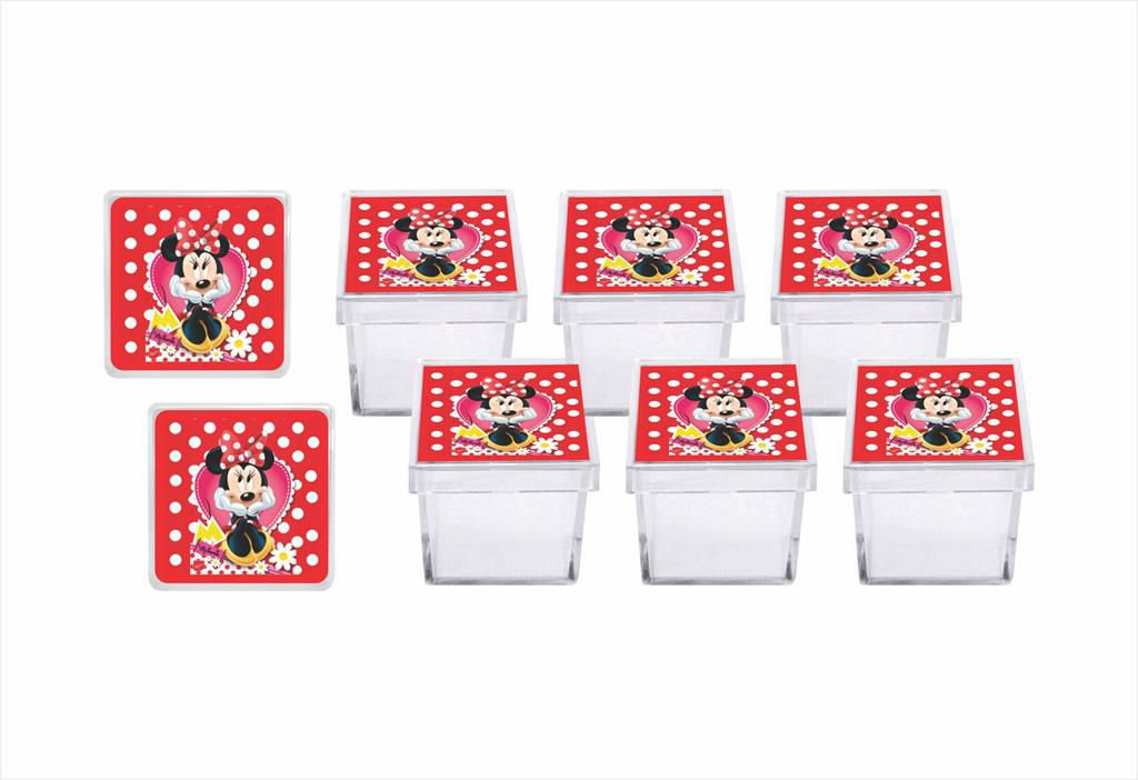 Kit festa Minnie vermelha 105 peças (10 pessoas)